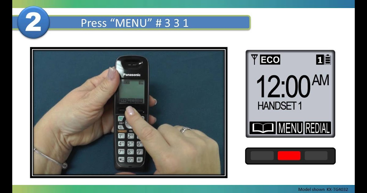 How To Change Voicemail Access Number On Panasonic Phone ...