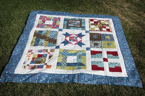 Jelly Roll Quilt Along Quilt Top