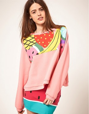 Image 1 - Lazy Oaf - Sweat à empiècement imprimé fruits