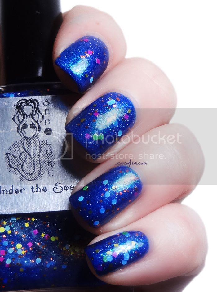 xoxoJen's swatch of Under the Sea over Flipping Your Fins