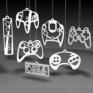 Gaming Controller Christmas Ornaments