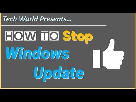 How to stop Windows Update in Windows 7, 8 And 10?