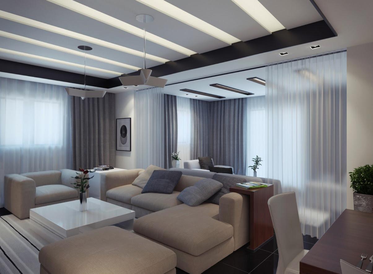 contemporary apartment living room 2   Interior Design Ideas.