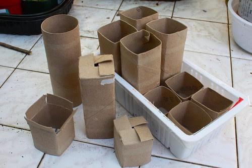 Toilet Paper Roll Pots