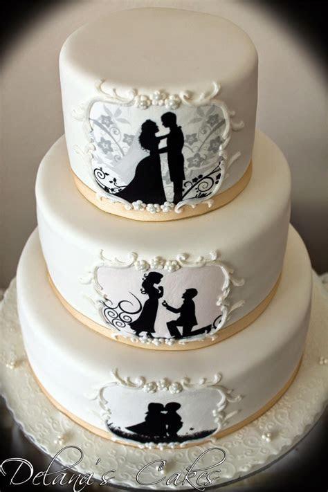 Delana's Cakes: Silhouette Wedding Cake