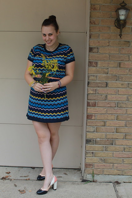 Outfit - Misson for Target dress, goldenrod