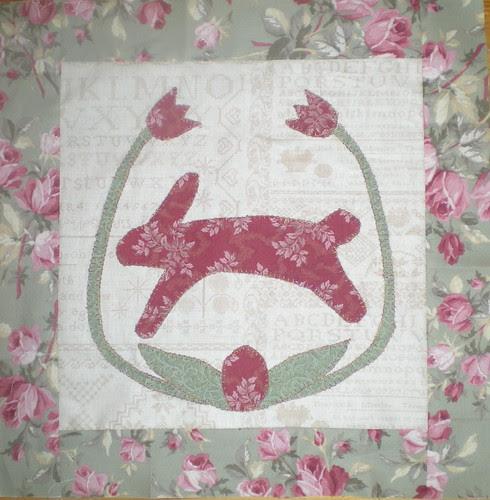 Folk Art Easter quilt top