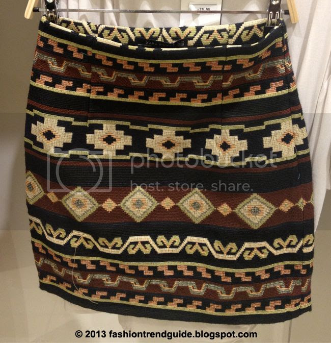 Zara embroidered southwest jacquard printed mini skirt