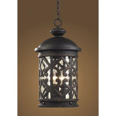 Elk Lighting Tuscany Coast 3 Light Outdoor Hanging Lantern | Wayfair