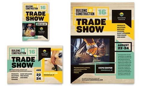 Builder's Trade Show Flyer & Ad Template   Word & Publisher