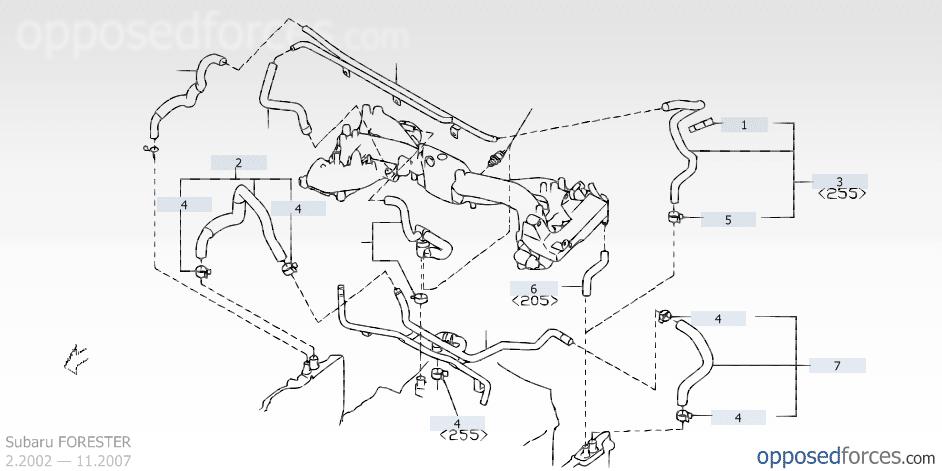 PCV Valve location on a Euro 2.5XT 2005 - Subaru Forester ...