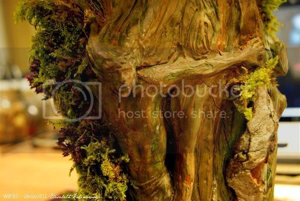 sculpture arbre personnage fantastique fantasy clay sculpture the Tree