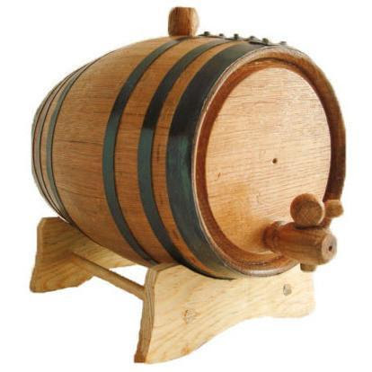 Oak Barrel With Black Steel Hoops 1l Alambika