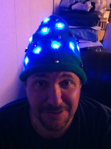Xmas hat lighted