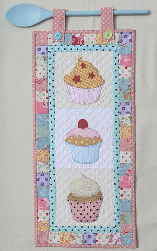 The Cupcake Quilt....could be a great runner or a one square mug rug also.