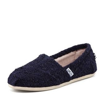 TOMS Shimmery Boucle Slip-On