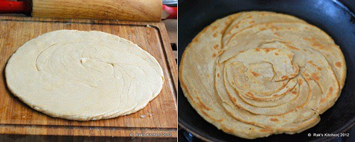 How to make lachha paratha step 5