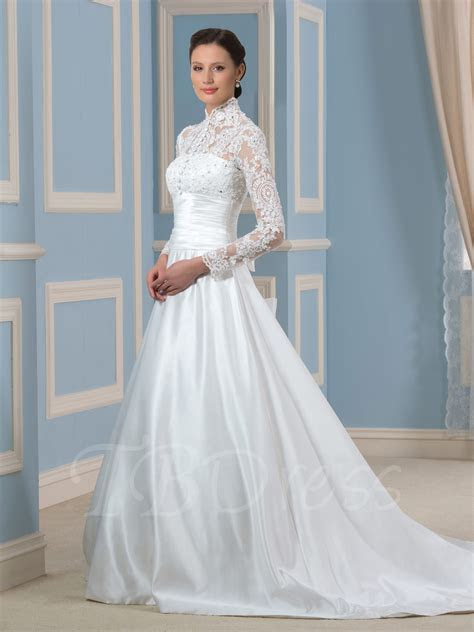 Empire Cut Tulle Wedding Dress With Beading Details And
