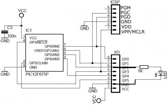 PIC hardware wiring