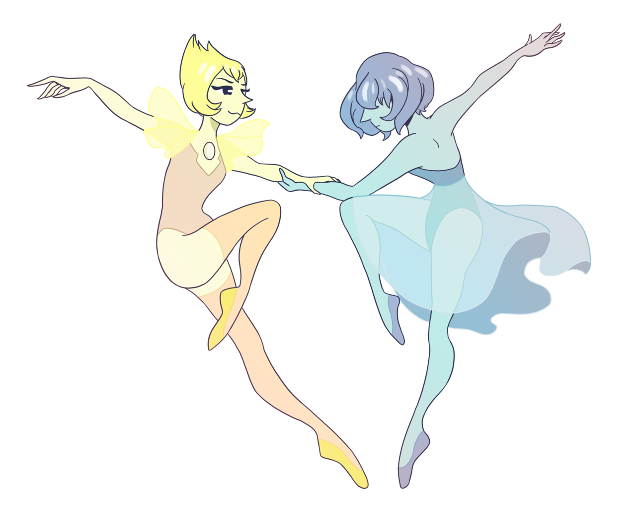 02-2018 - A Dance for the Diamonds At this point, drawing Pearls is just an excuse to draw ballerinas. – Commissions are still open!