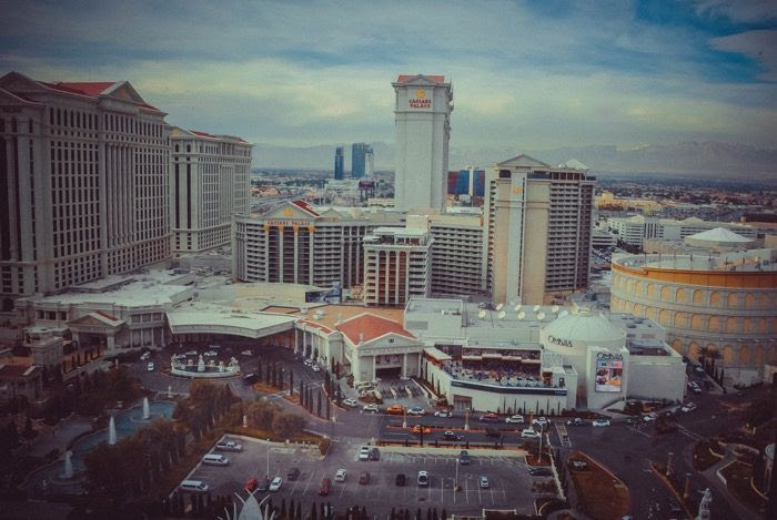 View from Flamingo hotel Las Vegas