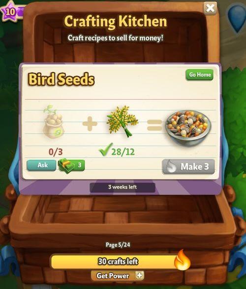 Bird Seed Kitchen