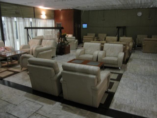 Inside the Cloud 9 lounge, Addis Ababa