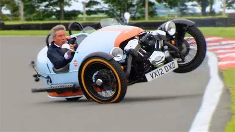 Watch Tiff Needell Almost Kill Himself Drifting a Morgan 3 Wheeler!