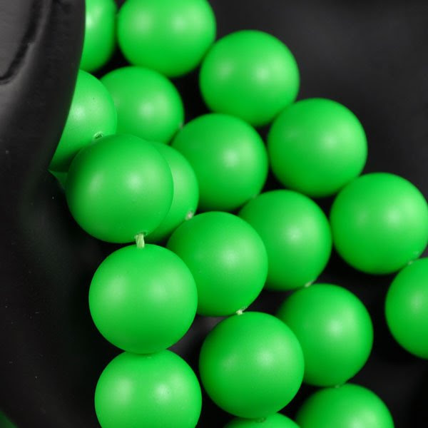 s34540 Swarovski Neon Pearl - 12 mm Round Pearl (5810) - Neon Green Pearl (10)