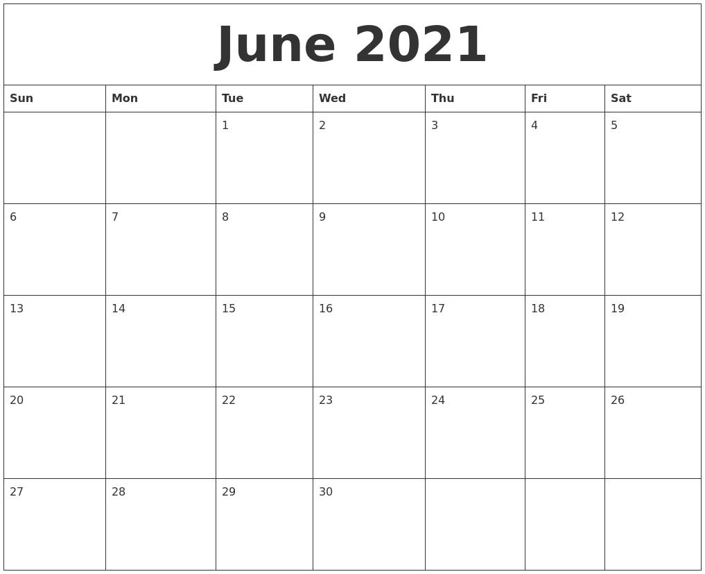 june 2021 free calendars to print
