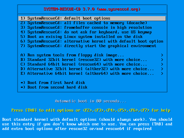 SystemRescueCd 5.1.1 ISO Final Full แผ่นกู้คืนระบบ Linux