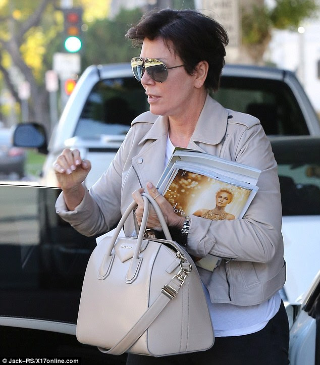 Kris Jenner carries Luxe interior design magazine | Mail Online