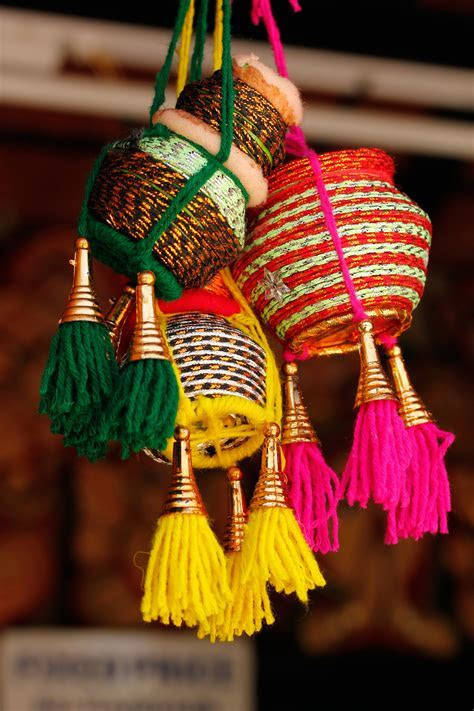 Colorful Handmade Indian Pots   Home is where the heart is