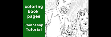 How To Make Coloring Book Pages In Photoshop