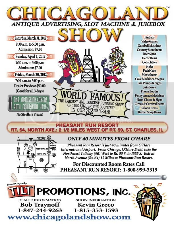 Chicagoland Antique Advertising, Slot Machine & Jukebox Show