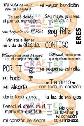 Frases En Espanol 4 X 6 Latina Crafter