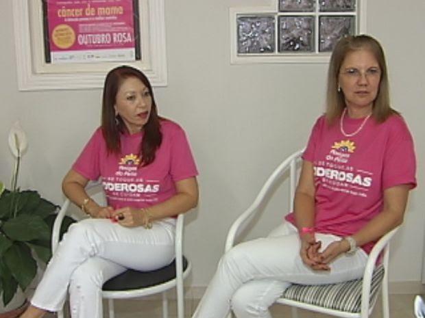 Voluntárias do grupo 'Amigas do Peito' ajudam mulheres diagnosticadas com câncer  (Foto: reprodução/TV Tem)