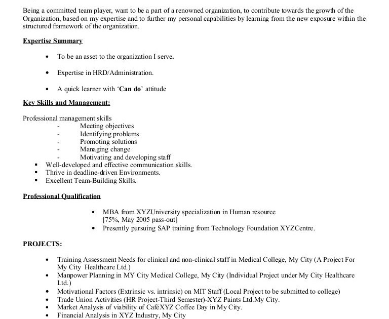 25 elegant resume model for freshers