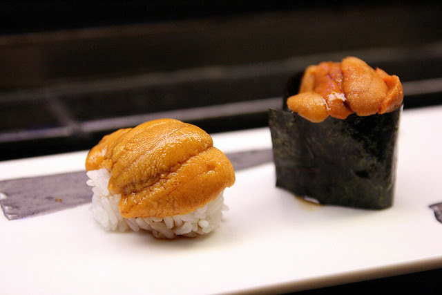 Mikuni does its uni generously atop rice, not the gunkan style (the seaweed strong texture interferes with the uni's)