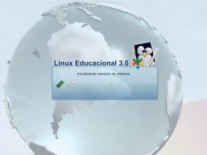 Inicializando o Linux Educacional 3.0