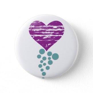 My Grunge Heart Pinback Button