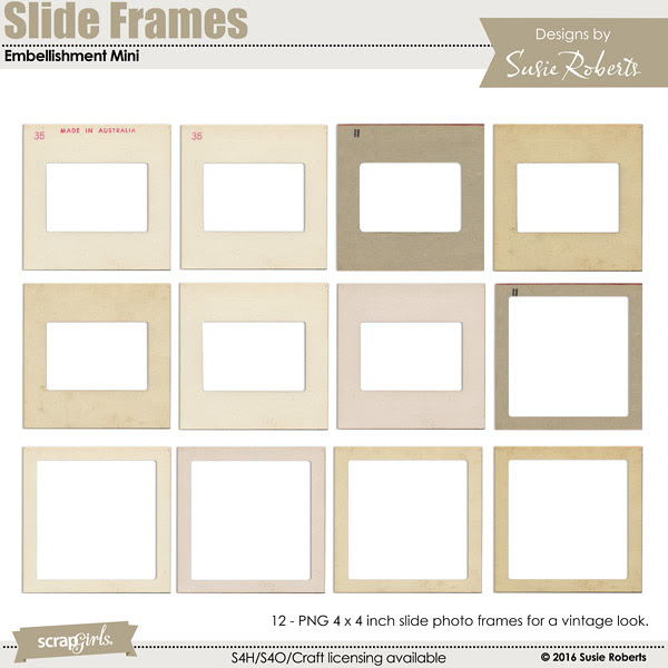 Slide Frames Embellishment Mini