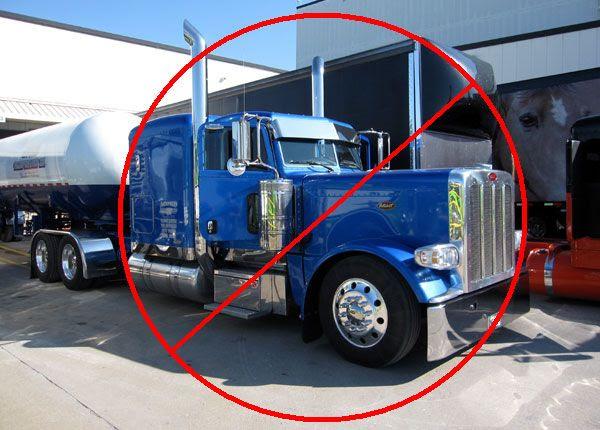 A REAL Peterbilt truck: Not cool. Unless it's Optimus Prime.