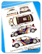 Calcas 1/24 Racing Decals 43 - Ford Fiesta WRC Romania - Nº 12 - F. Delecour - Rally de Montecarlo 2014 para Kits de Belkit BEL-003