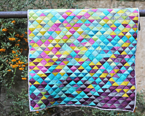 Finished HST lap quilt
