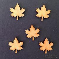 Деревянная фигурка WOOD-046 - Кленовый лист, 1 штука - ScrapUA.com