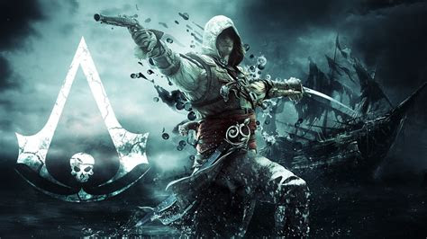 full hd wallpaper assassins creed edward kenway logo ship