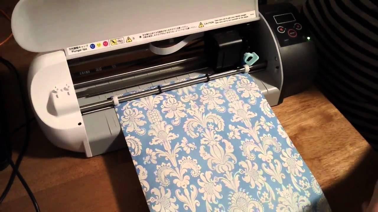 Cutting Printable Vinyl On Silhouette SD - YouTube