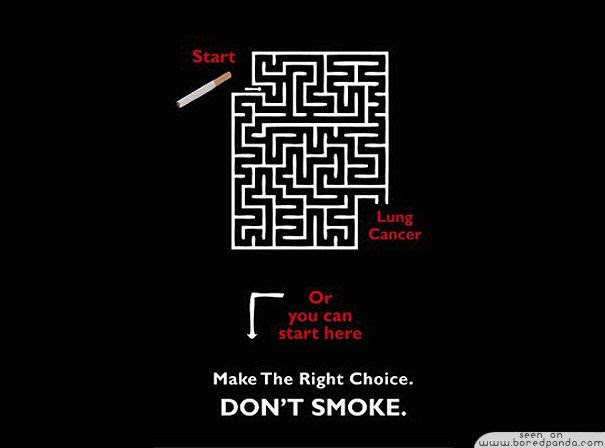 Clever-and-Creative-Antismoking-ads-lung-cancer-maze