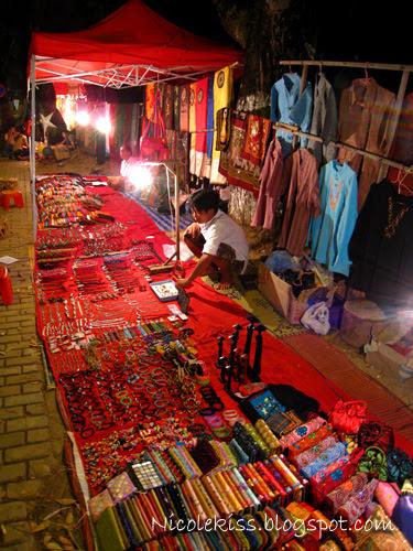 vientiane night stall